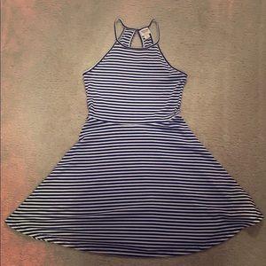 Striped A-like dress
